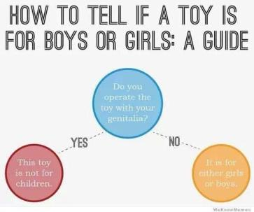Gendered toy guide